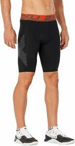 2XU Accelerate Compression Shorts Men's Medium Black/Orange MA4478b