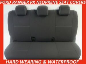 FITS FORD RANGER PX MK 3 REAR  SPORTS  NEOPRENE SEAT COVERS (WETSUIT MATERIAL)
