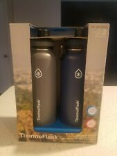 Thermoflask Insulated 40oz Stainless Steel Water Bottle with Spout Lid, 2-pack