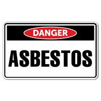 Danger Asbestos Sticker Decal Safety Sign Car Vinyl #7395EN