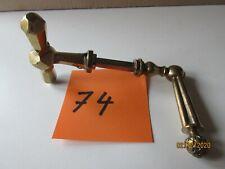 ancienne paire de poignées de porte en laiton collection décoration art populair
