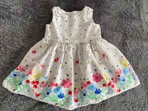 Baby Girl Flower Butterfly & Bee Dress 3-6 Months