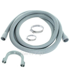 Pipe Outlet Drain Hose For Ikea Dishwasher 2.4M Kit + Jubilee Clips