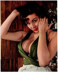 Fine Original 1960 Pin Up Litho Photograph Voluptuous Brunette Is Provocative