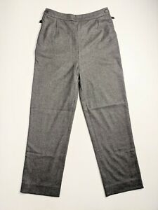 HERMES PARIS WOMEN RELAXED CASHMERE PANTS TROUSERS Size 36 SMALL