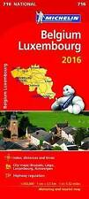 Belgium & Luxembourg 2016 National Map 716 (Michelin Road Atlases & Maps)