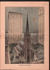 Skyscraper Gratte-ciel Tours New-York City USA 1906 ILLUSTRATION