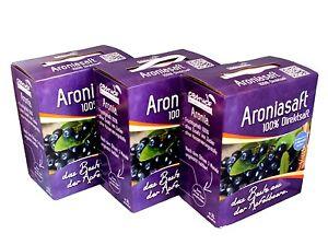 100% Aroniasaft   - Direktsaft -  3  x 3 Liter Bag in Box !!!Vorteilsangebot!!!