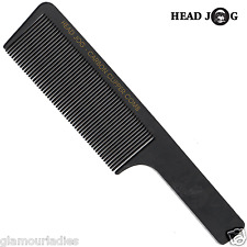 HEAD JOG Carbon Fibre Clipper Comb Professional Black for Hair Trimming