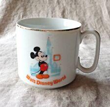 Vintage WALT DISNEY WORLD Mickey Mouse Castle 8 oz Mug w/production defect/chip