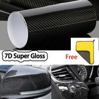 7D Gloss Carbon Fiber Vinyl Film Wrap Air Release Super 6D Premium Bubble Free