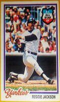 1978 Topps Reggie Jackson New York Yankees/A's Very Sharp!! Card 200