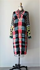 Marni Multi-Color Abstract Button Down Long Sleeve Silk Shirt Top Sz L