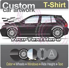 Custom T-shirt for VW 1999-02-05 2006 Golf mk4 City VR6 MkIV 5 door GTi Fans