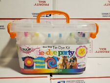 Tulip Tie Dye One Step Party Kit 123 piece 18 colors bottles Crafting Painting
