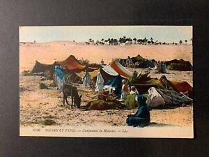 Morocco / Marokko - Nomads Bedouin Camp in desert PPC Postcard VF unused