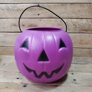 Halloween Pumpkin Candy Bucket - Purple