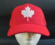 Canada Flag Baseball Ball Hats Cap Maple Leaf Red White Casquette