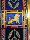 MICHAELA FREY WILLE Greco-Roman Hellenistic Lion Pegasus Horse 24K Enamel Bangle