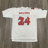 VINTAGE Reebok Tampa Bay Bucs Jersey Mens L White Williams NFL HipHop 90s
