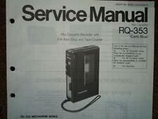 Panasonic RQ-353 REGISTRATORE A CASSETTE MANUALE SERVIZIO diagramma di cablaggio parti