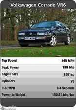 VW CORRADO VR6 Trumps Original Print Poster Ltd edition Volkswagen VR6 storm