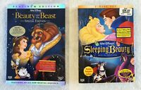 Walt Disney Beauty and The Beast & Sleeping Beauty Special Edition DVD's