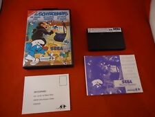 Les Schtroumpfs (The Smurfs) Sega Master System COMPLETE w Box manual game WORKS