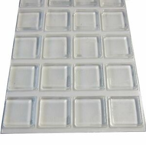 Rubber Feet Adhesive Rubber Pads, 1 Inch Square Self Stick Bumpers, Clear Bumper