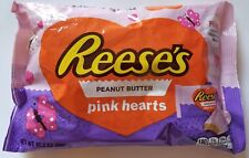 NEW VALENTINE'S DAY REESE'S PEANUT BUTTER PINK HEARTS CHOCOLATE FREE SHIPPING