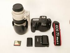 Rarely used Canon 7d mark II w/ 70-200mm 2.8L USM lens, CF card & extra battery