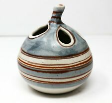 UNUSUAL FONG CHOW FOR GLIDDEN POTTERY SANDSTONE FENESTRATED WEEDPOT MID CENTURY