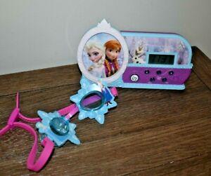 """Disney's Frozen Alarm Clock--Plays """"Let It Go""""elsa ,anna and goggles too"""