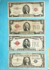 4 note collection, 2 - $2.00, 1-$5.00, 1-$1.00 silver cert. with a FREE 1-cent