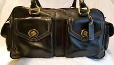 Coach Vintage Legacy Large Black Leather Satchel Shoulderbag Handbag Purse #1808
