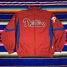 Philadelphia Phillies MLB Mens XXL Majestic Therma Base Full Zip Jacket VGC