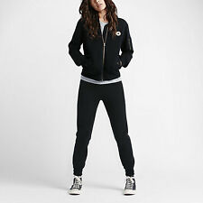 NEW Women's Converse MA-1 Fleece Bomber Jacket Size: Medium Color: Black