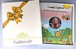 Unisex Precious Baby Memory Book Photo Album w Gift Box Infant -5 Journal Diary
