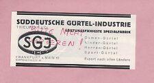 FRANKFURT/MAIN, Werbung 1928, Süddeutsche Gürtel-Industrie Thielmann & Co.