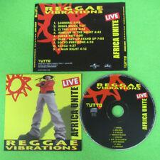 CD AFRICA UNITE Live reggae vibrations promo TUTTO 1 GEN 2002 no lp mc dvd (CI1)