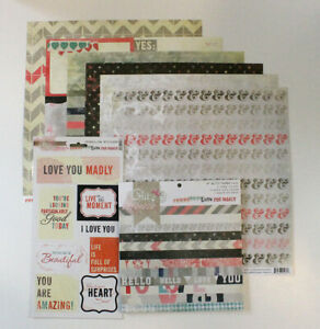 Glitz Design: Love You Madly Scrapbooking Bundle Brand New Paper Stickers Pad
