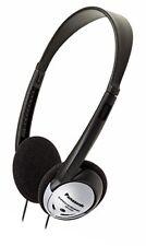 Panasonic RP-HT21 On Ear Lightweight Headphones with XBS, Black/Silver
