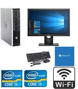 Fast Cheap WiFi Quad Core i5 Win 10 PC Desktop USDT Computer Full Set-up Bundle