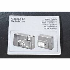 Rollei A 26 / C 26 in der Praxis - Anleitung - Gebrauchsanleitung - Manual