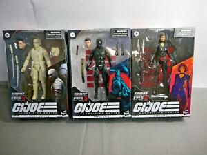 G.I. Joe Classified Series Snake Eyes Baroness Storm Shadow 3 Figuren Hasbro KAN