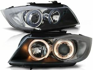 BMW 320i 323i 325i 328i 330i E90 E91 2005 2006 2007 2008 LPBM89 HEADLIGHTS HALO