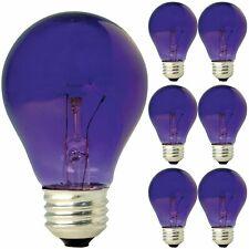 GE A19 Party Light Purple 25 Watt Light Bulb E26 Medium Base 6 Pack