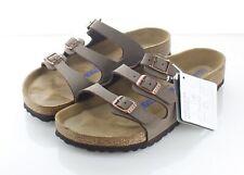 22-17 NEW $110 Women's Sz 7 M Birkenstock Florida Birkibuc Soft Footbed Sandal