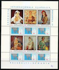 Romania 1971 MNH Mi 2931-2936 KLB Sc 2247 a-f Folk Costumes.Philatelic Art **
