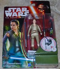 Daisy Ridley Signed Action Figure Star Wars The Force Awakens Rey MOC